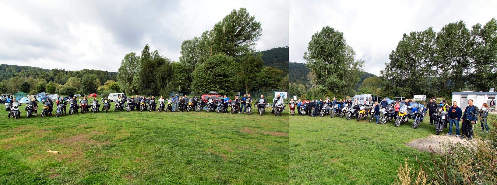 (Fast) alle Teilnehmer/innen mit Ihren Motorrädern