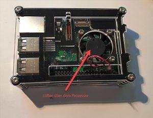Raspberry Pi 3B+ im Gehäuse (mit Lüfter)