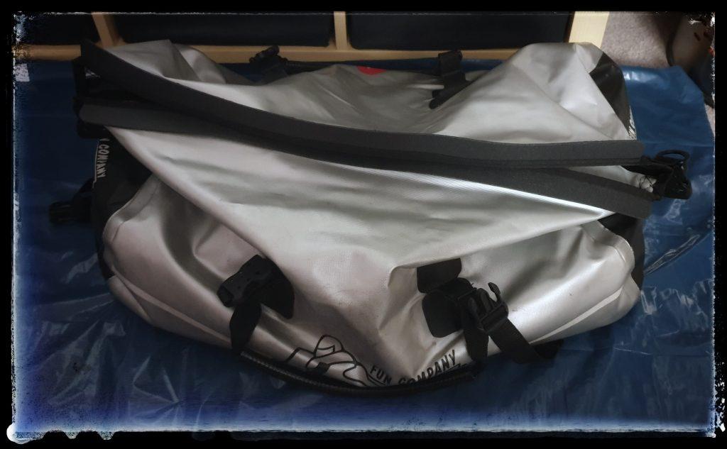 Gepackte Gepäckrolle