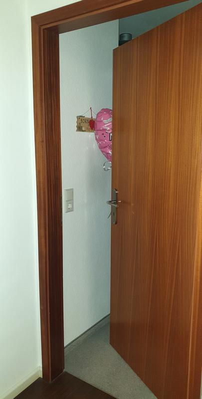 Ballon hinter Tür