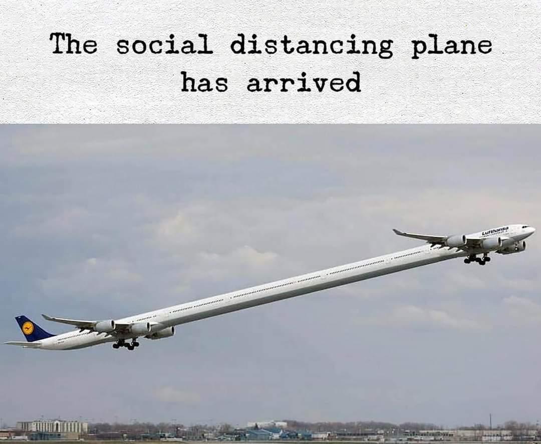 The social distance plane