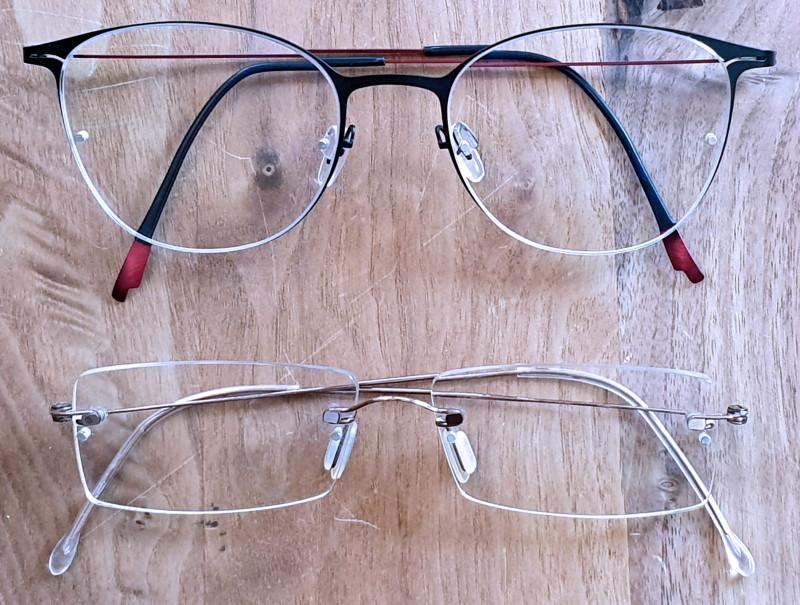 Brille neu und alt