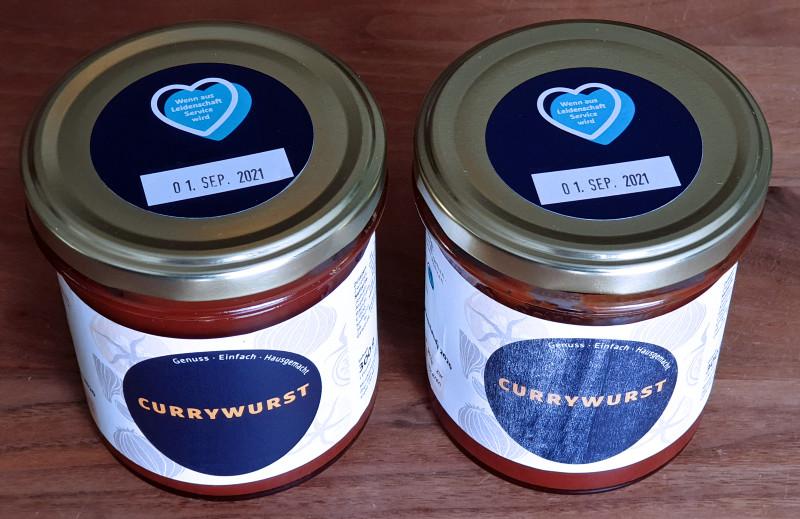 Currywurst im Glas